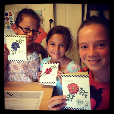 School holiday cousin sleepovers + impromptu  #blendabilities   class!   #stampinup     #stampinupaustralia  #stampinkids