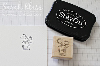 Stamp image using StazOn Jet Black ink