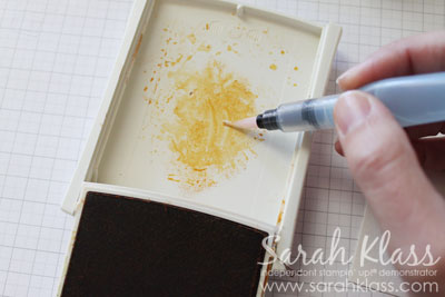 For the second and subsequent layers, make your ink a little bit darker by grabbing it from the centre of the ink puddle