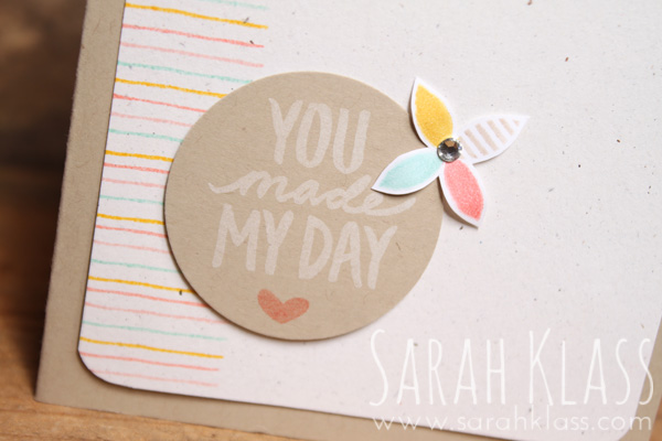 Whisper White craft ink on CrumbCake cardstock is a look that I love...