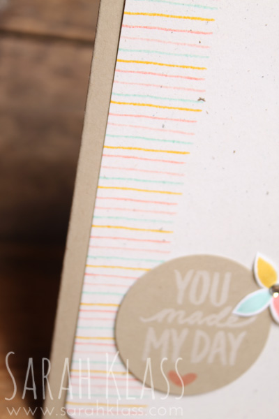 The tiny little line stamp makes for a fun background when stamped repeatedly in alternating colours