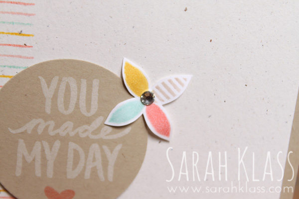Stampin' Write Markers and a Rhinestone for a sweet and simple embellishment