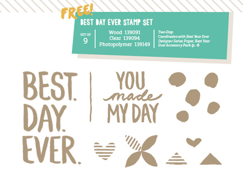 Best Day Ever - FREE with your qualifying order until next Tuesday!