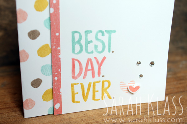 Stampin' Write Markers    work well to accentuate the words of the greeting...