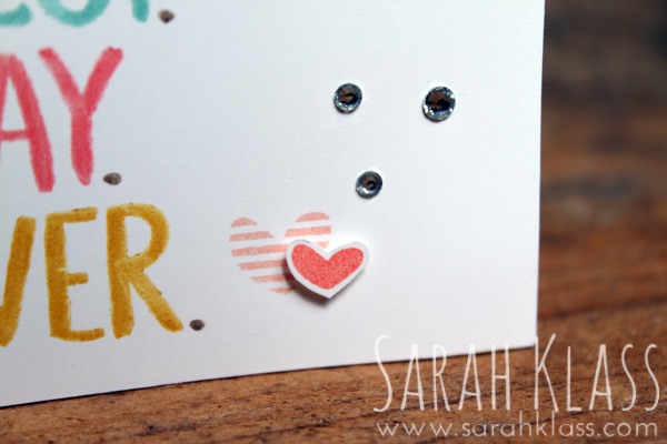 A coupla cute hearts and some Rhinestones to finish...