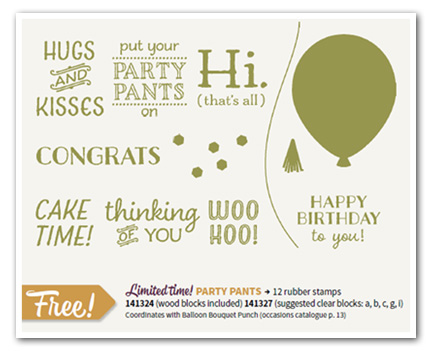 Party Pants Stamp Set