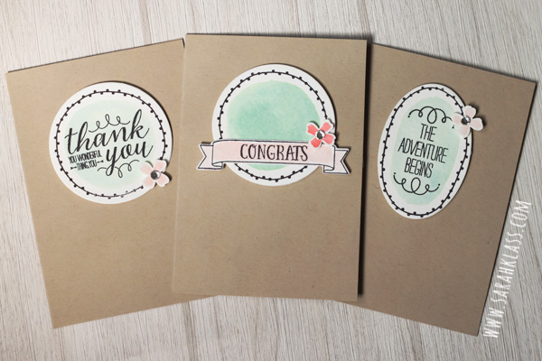 Stamps: You're So Lovely Paper: Watercolor Paper Ink: Basic Black Archival, Mint Macaron, Blushing Bride, Watermelon Wonder Accessories: Crumb Cake Note Cards & Envelopes, Circle Collection Framelits, Oval Collection Framelits, Large Numbers Framelits, Itty Bitty Punch Pack, Rhinestone Basic Jewels, Stampin' Dimensionals