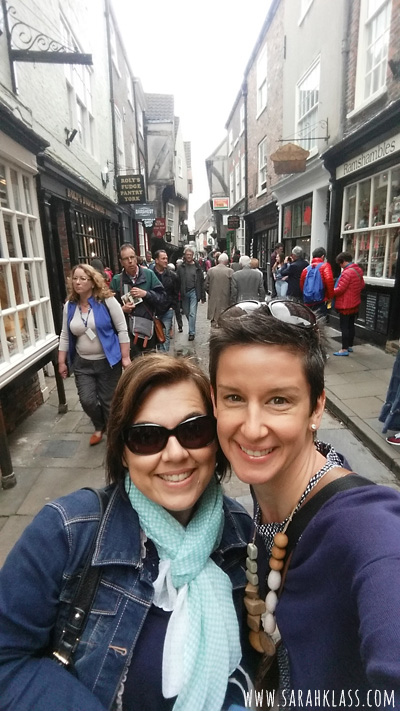 Hanging out at The Shambles in York