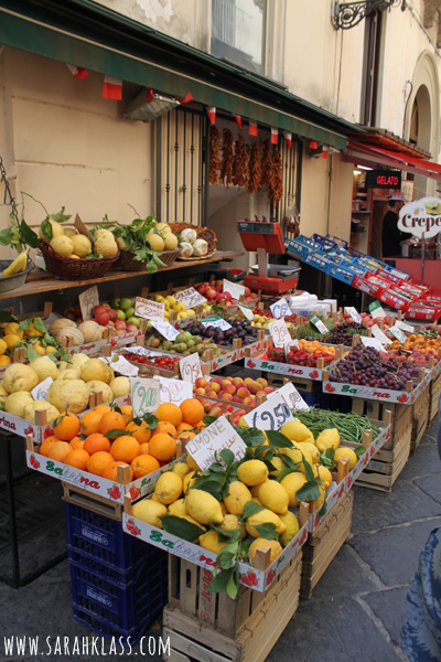 There were bright and beautiful fruit stands everywhere!