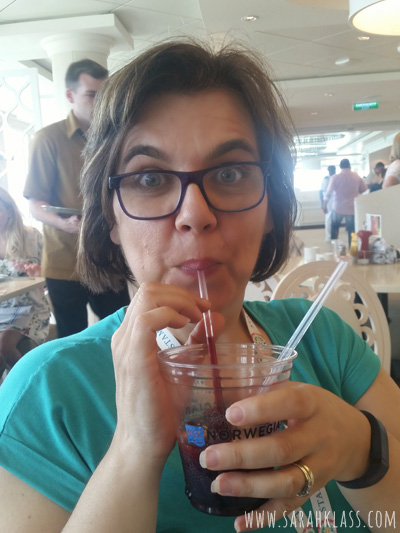 Sangria in the Garden Cafe on deck 15!