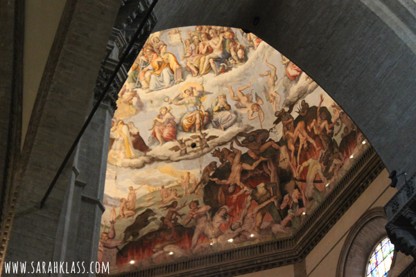 Amazing painted dome inside the Duomo