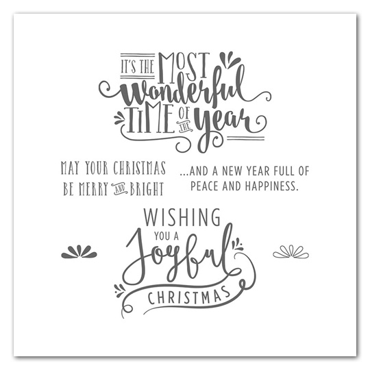 Wonderful Year stamp set | Wood mount | Clear mount