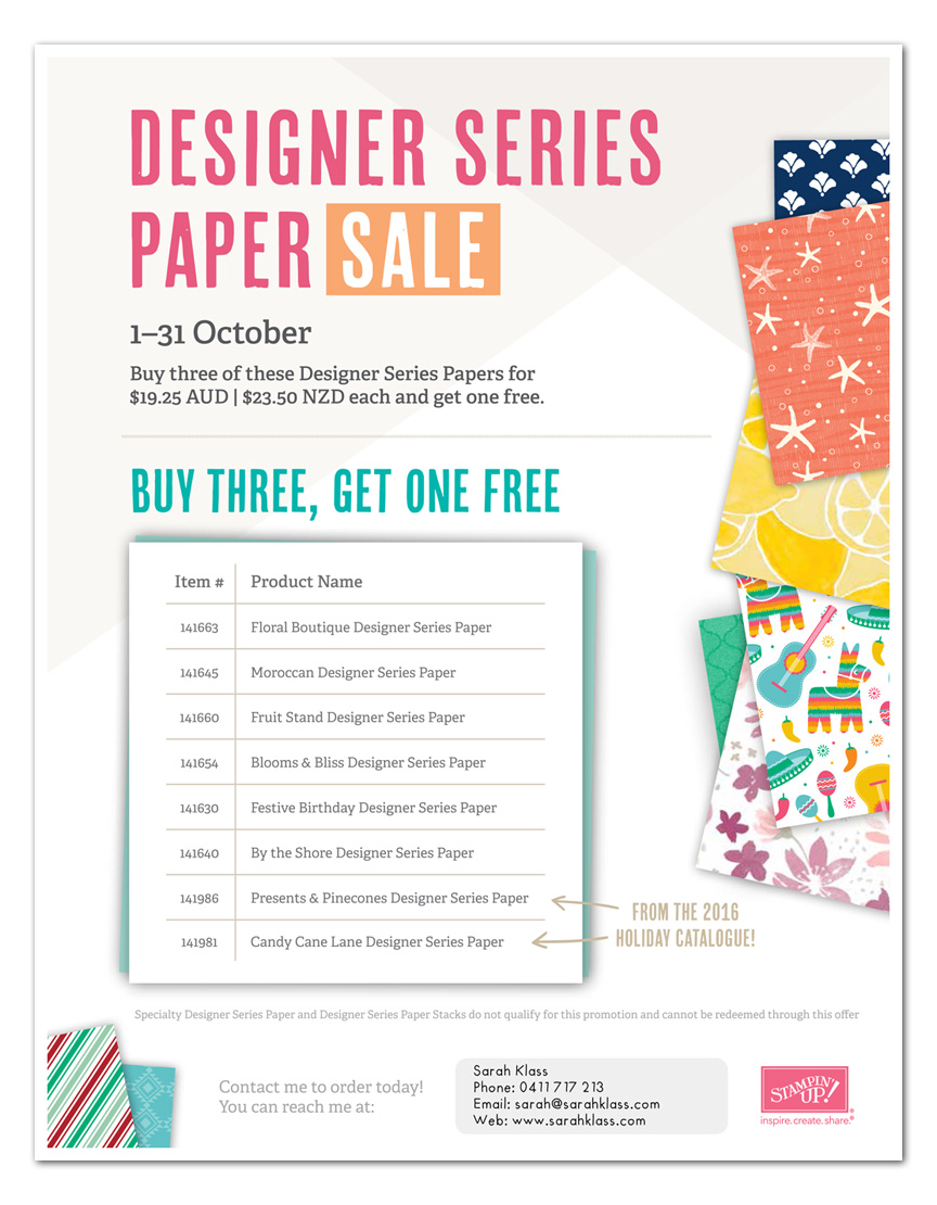 Click to view and shop for available paper packs