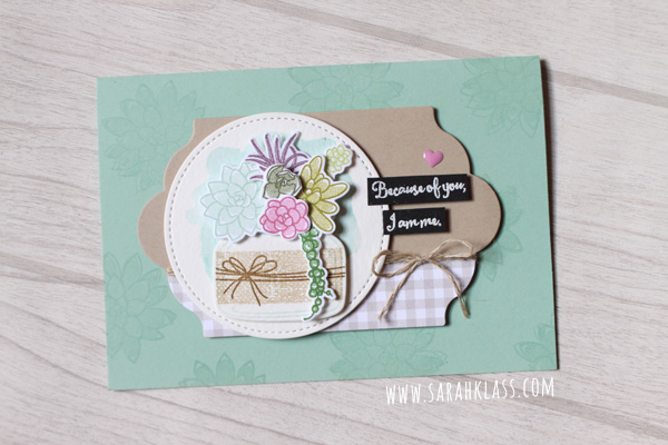 Stampin' Up! Oh So Succulent | www.sarahklass.com