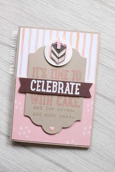 Stampin' Up! Party with Cake | www.sarahklass.com