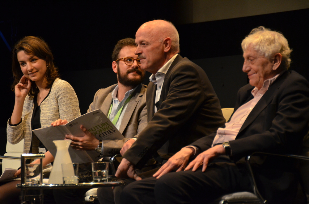 Foto: Christian Deichmann Haagerup  From the left: Giulia Maci,  Ramon Marrades, Flemming Borreskov and Sir Peter Hall at the IFHP 100 centenary congress in London 2013
