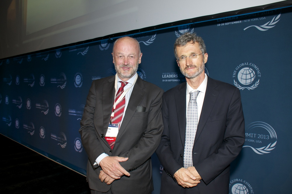 From left: Flemming Borreskov and Georg Kell  Foto: Irene Hell