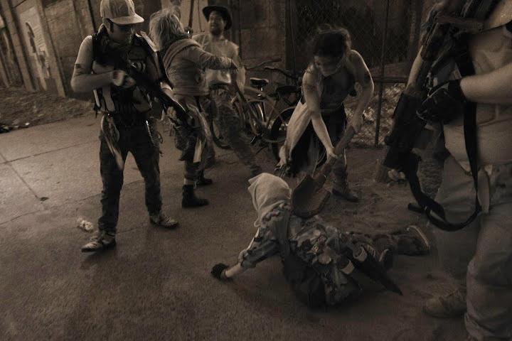 Zombie beat down
