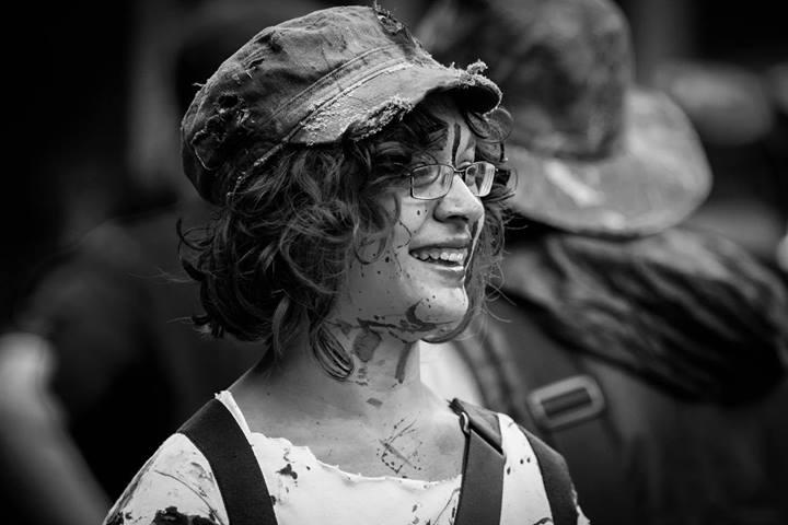 Smile despite the blood