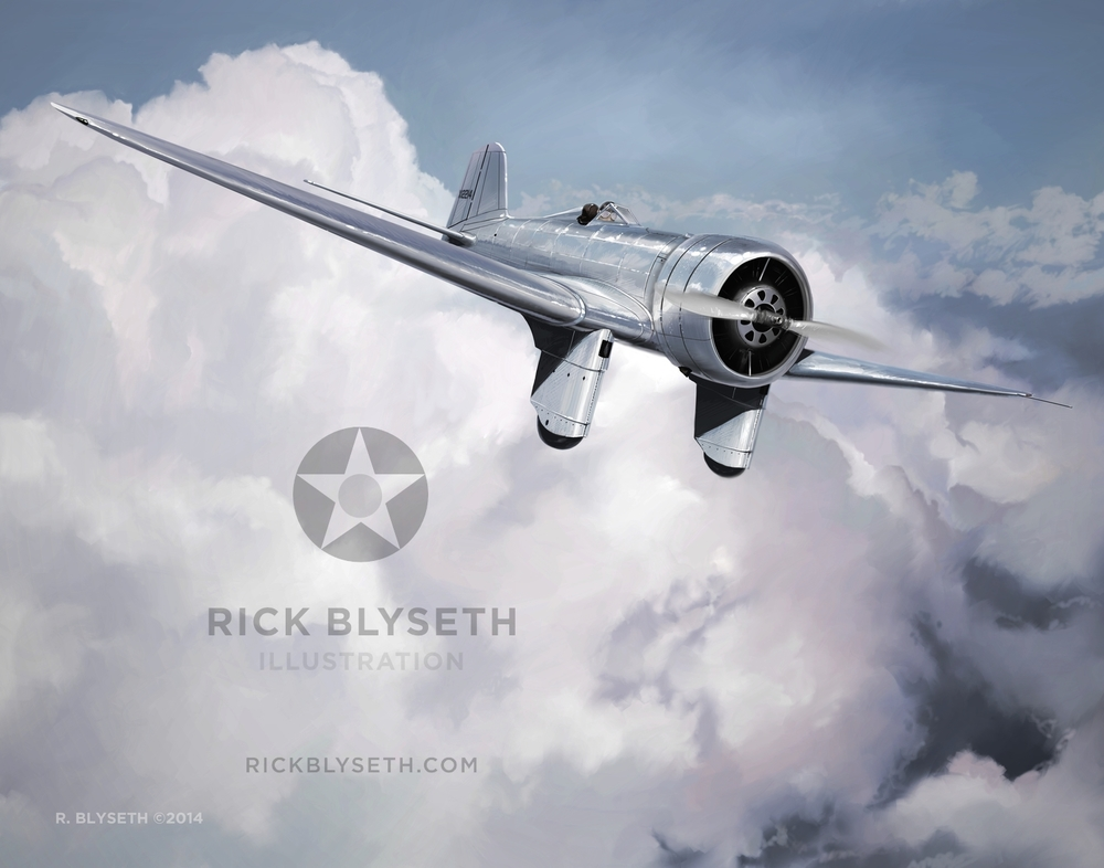 ONE SLICK STEARMAN  R.BLYSETH ©2014  PRINT WILL NOT HAVE VISIBLE WATERMARK