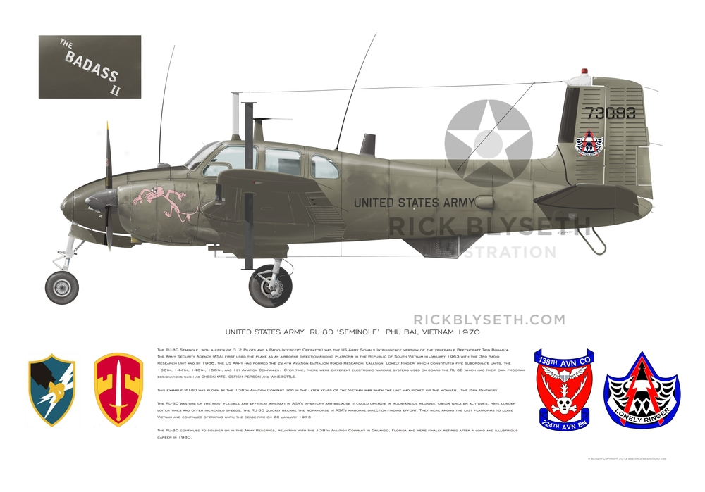 U.S. ARMY RU-8D 138TH R.BLYSETH ©2014 PRINT WILL NOT HAVE VISIBLE WATERMARK