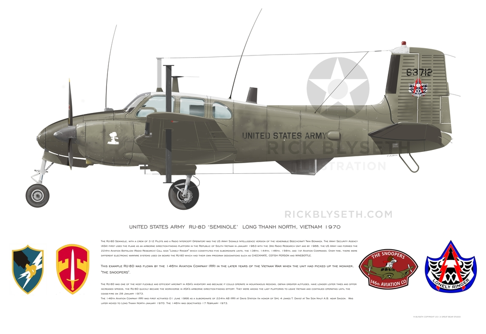 U.S. ARMY RU-8D 146TH  R.BLYSETH ©2014  PRINT WILL NOT HAVE VISIBLE WATERMARK
