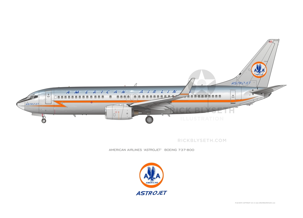 BOEING 737 ASTROJET R.BLYSETH ©2014 PRINT WILL NOT HAVE VISIBLE WATERMARK