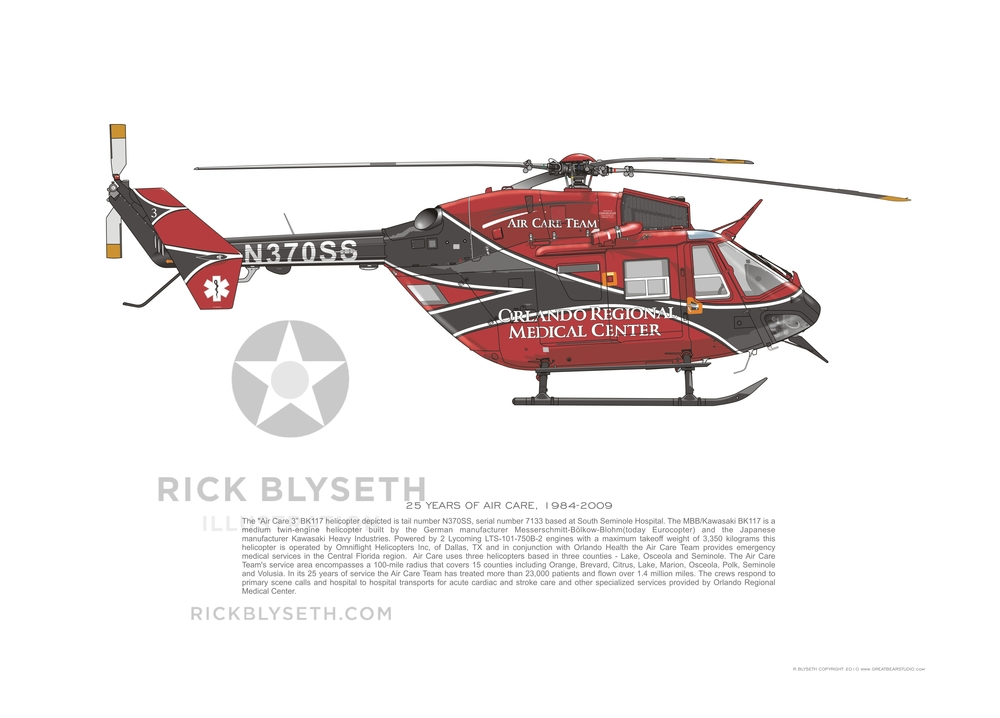 ORMC BK117 N370SS  R.BLYSETH ©2014  PRINT WILL NOT HAVE VISIBLE WATERMARK