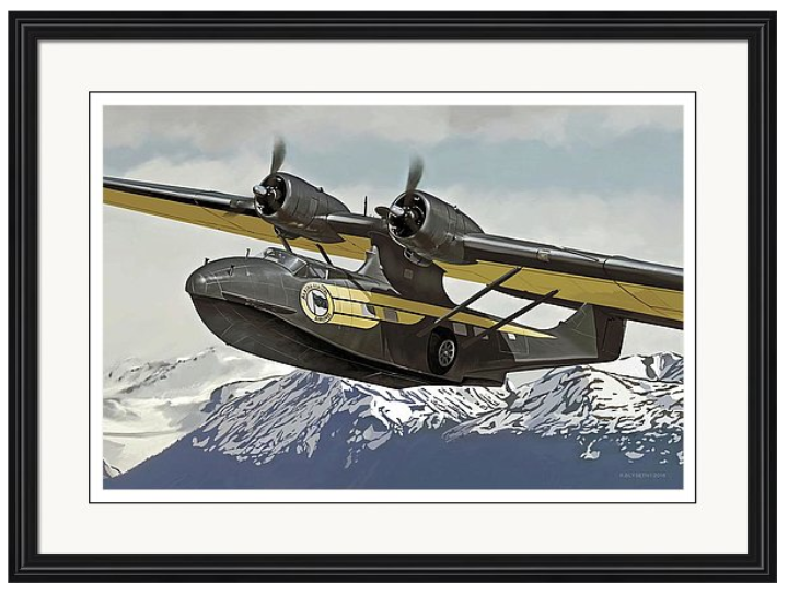 'ALASKA CAT'  R.BLYSETH © 2015  SAMPLE FRAME AND MATTING.  PRINT DOES NOT COME FRAMED OR MATTED.