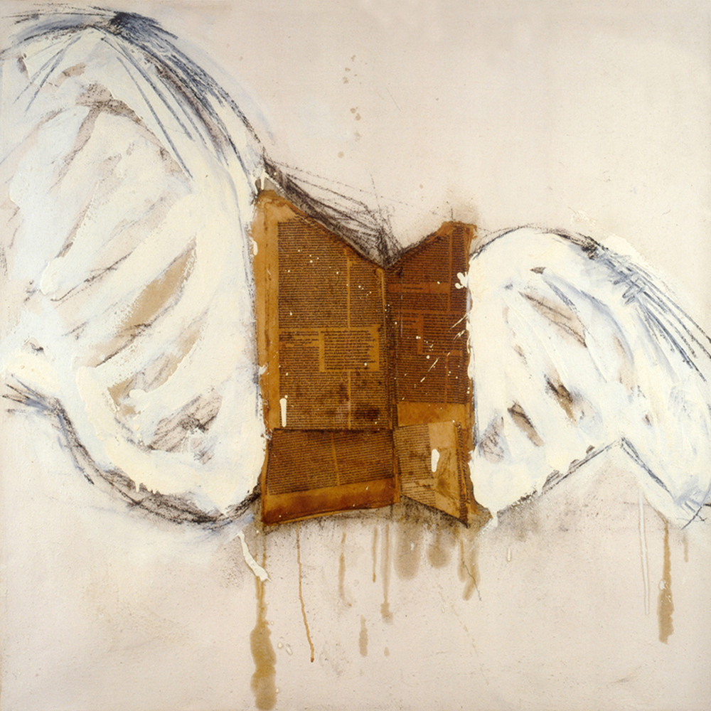Libro con le ali. Omaggio a Kiefer (Book with wings. Homage to Kiefer)