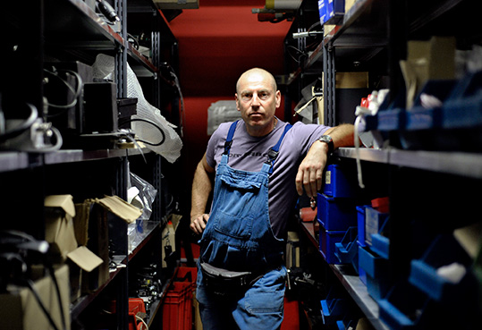 "Behind the scenes of Munich's big theater ""Die Kammerspiele"". Werner is working as caretaker and knows all the little secret places in the house. © Gabriel"
