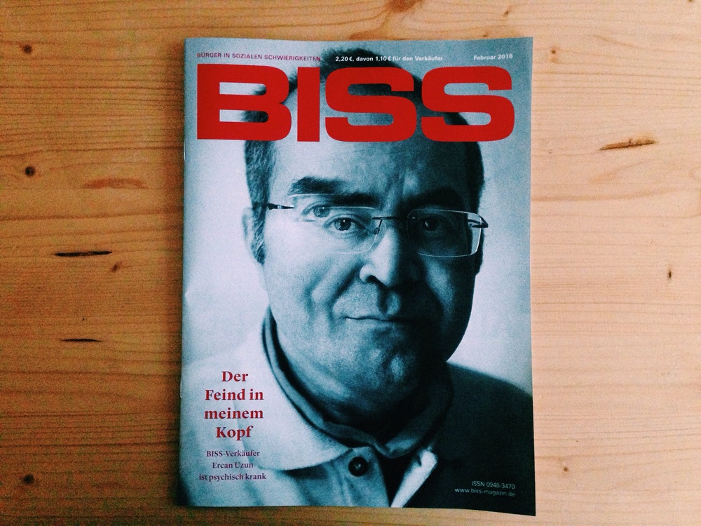 Cover of the February issue of BISS-Magazin.