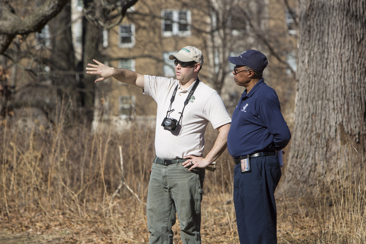 FPF Park Ecologist Peter VanLinn (left)
