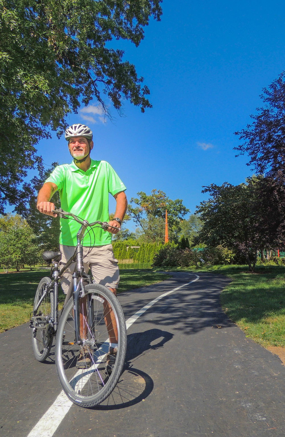 City Cycling Tour's Chris Gerli, photographed by Forest Park Forever
