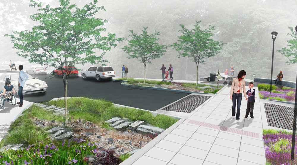 Project rendering for streetscape improvements