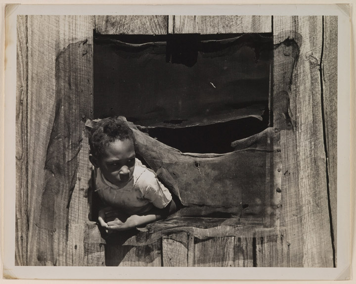 Russell Lee, American, 1903–1986;  Negro Sharecropper Girl, Texas , 1939; gelatin silver print; image: 10 3/16 x 13 1/8 inches