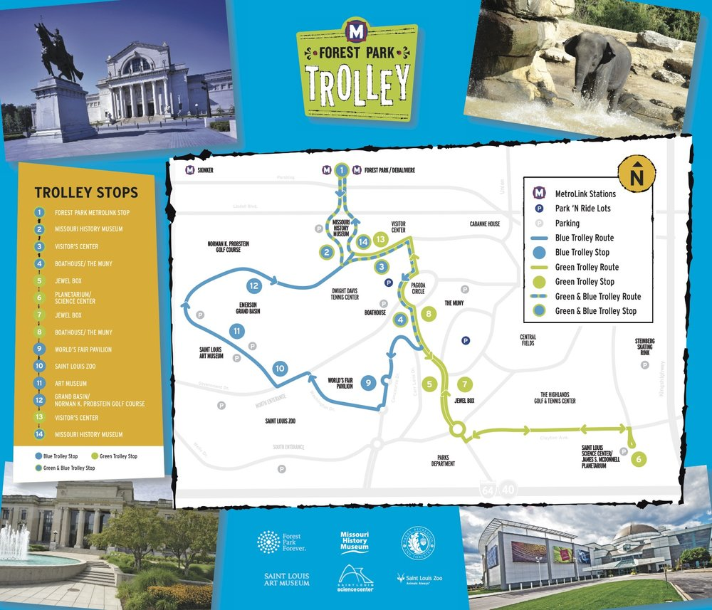 Click here to download a PDF of the Trolley route map.