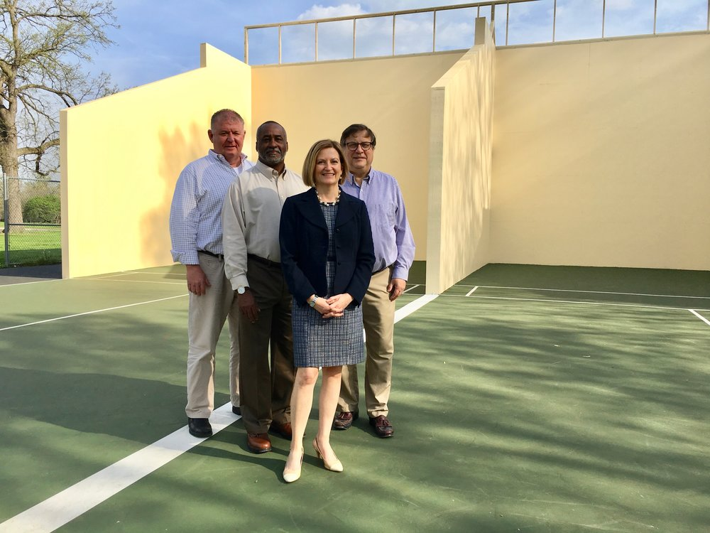 From left: Greg Hayes, Director, Parks, Recreation and Forestry; Charles Bryson, Director, Civil Rights Enforcement Agency; Lesley Hoffarth, President and Executive Director, Forest Park Forever; Don Roe, Director, Planning and Urban Design Agency