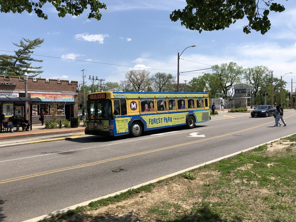 The Trolley spotted on DeBaliviere Blvd.