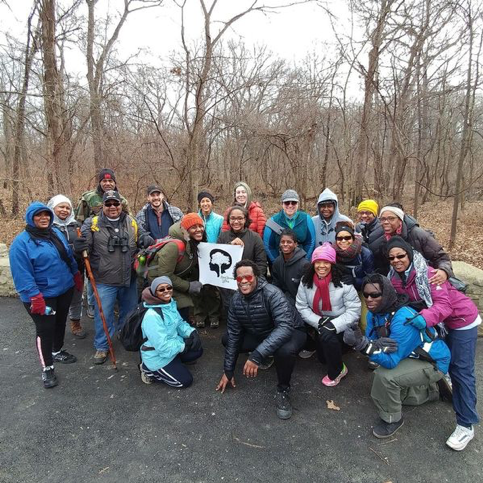 Members of Outdoor Afro enjoy a walk through Kennedy Woods this past winter.   Credit: Outdoor Afro St. Louis Chapter