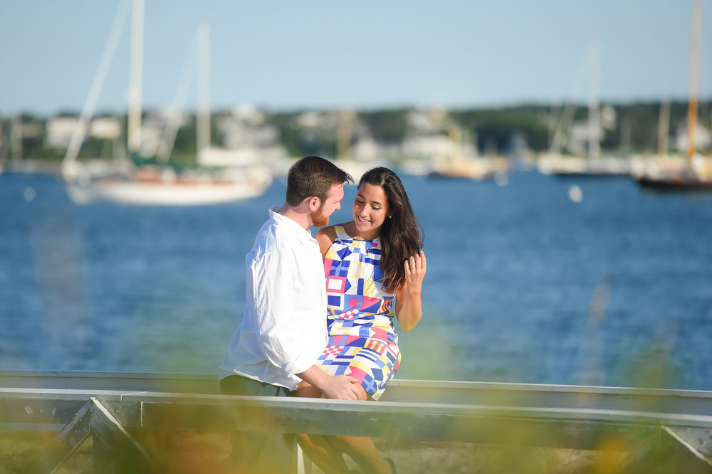 Nantucket Engagement at Brant Point Lighthouse