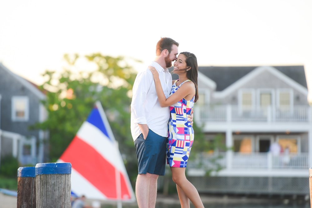 Nantucket Engagement Photos on the docks