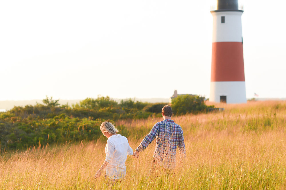 Nantucket Engagement at Sankaty Lighthouse