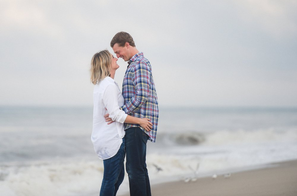 Nantucket Engagement Photos at the beach