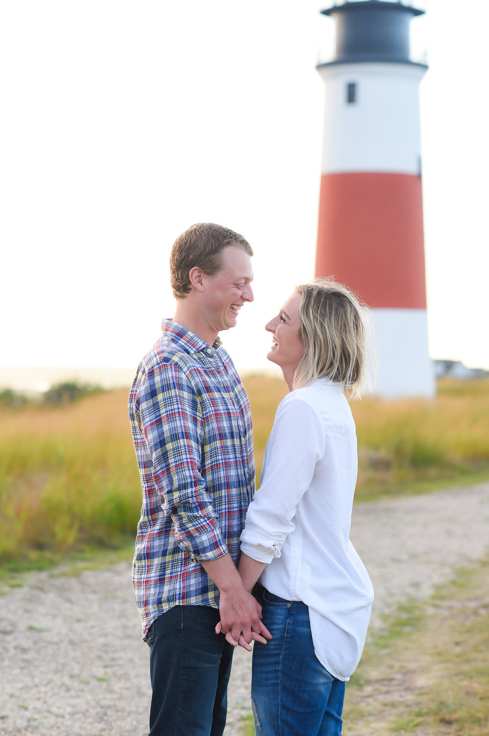 Nantucket Engagement Photos at Sankaty