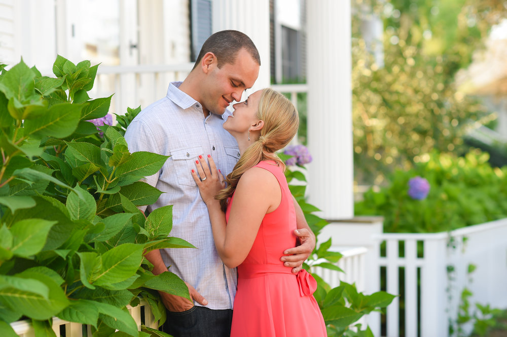 Nantucket Engagement on Main Street
