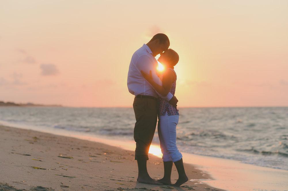 Nantucket Engagement at sunset