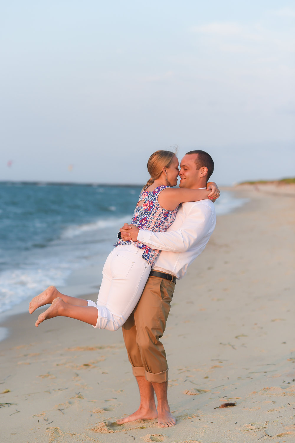 Nantucket Engagement at Steps Beach Sunset