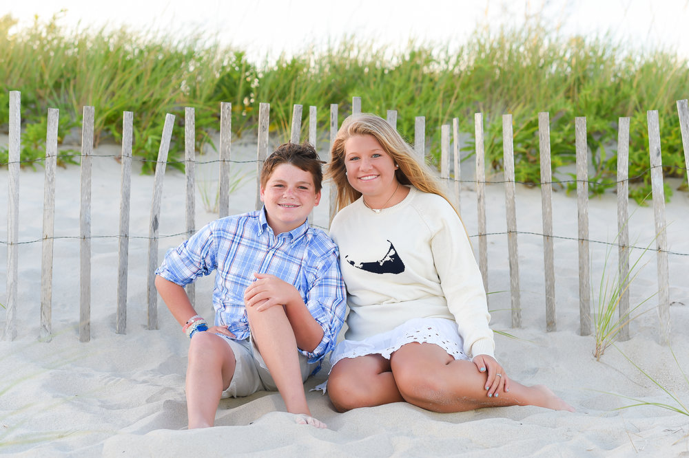 Nantucket Family Portraits on the beach