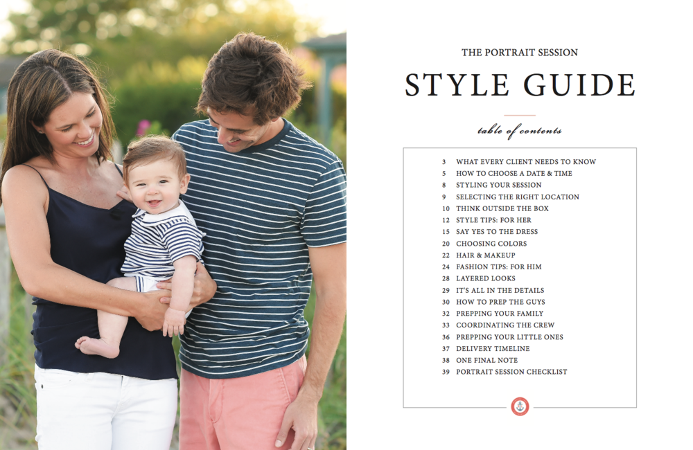 Nantucket Family Portrait Style Guide